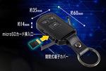 キーレス型カメラ スパイカメラ スパイダーズX (A-203)の各部詳細とマイクロSDカード挿入口