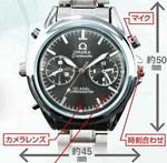 腕時計型カメラ スパイダーズX w-701の各部詳細
