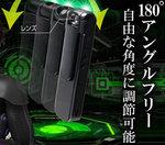 ハンズフリーで手軽に撮影できる回転レンズ式最新ペンクリップ型カメラ スパイダーズX (P-360)